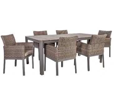 Valgomojo komplektas stalas+6 kėdės