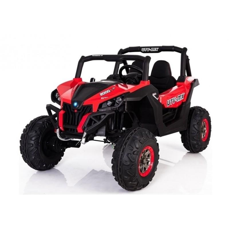 Elektromobilis JEEP XMX603, 4X4, 2x12 V, raudonas