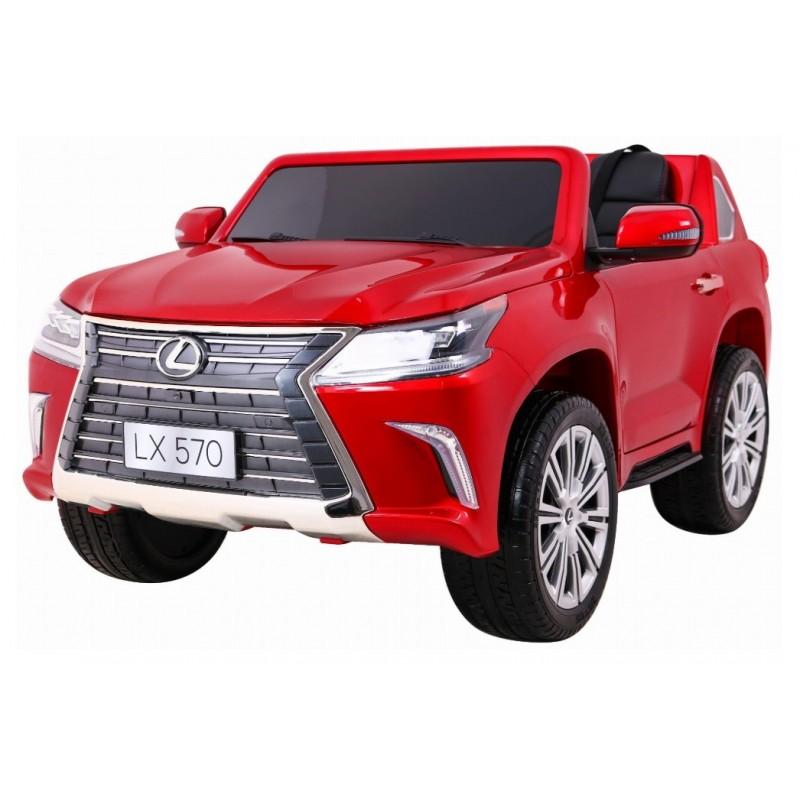 Elektromobilis LEXUS LX570, 4x4, 2x12V, raudonas lakuotas