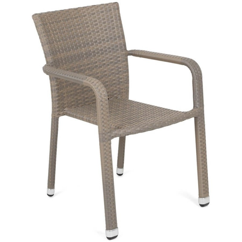 Lauko baldų komplektas SUBA BEIGE MELANGE, 4+1 su pagalvėlėmis