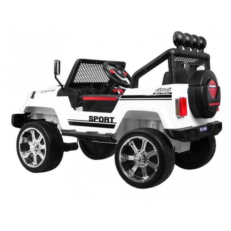 Elektromobilis RAPTOR DRIFTER, 4x4, 12V, baltas