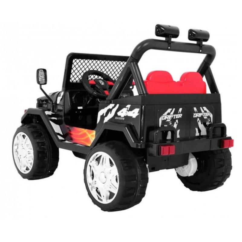 Elektromobilis JEEP RAPTOR DRIFTER, 12V, juodas
