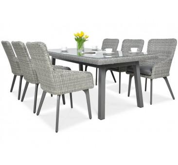Lauko baldų komplektas MILENA DINING STONE GREY