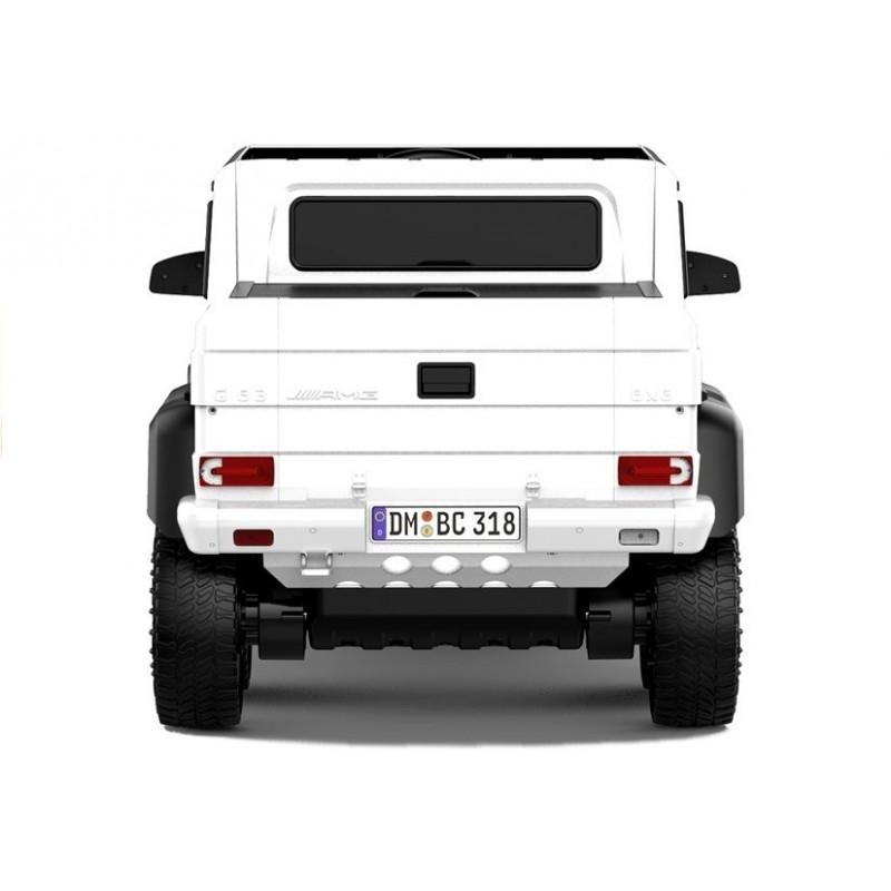 Elektromobilis MERCEDES G63, 4x4, 12V, baltas