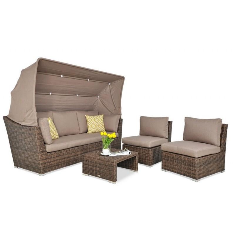 Lauko baldų komplektas CORFO RELAX BROWN