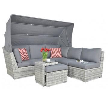 Lauko baldų komplektas CORFO RELAX WHITE GREY