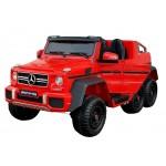 Elektromobilis MERCEDES 6X45W 12V raudonas su LCD