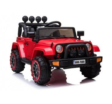 Elektromobilis JEEP BRD-7588, 12V, raudona