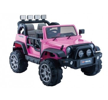 Elektromobilis JEEP HP012, 12V, rožinis