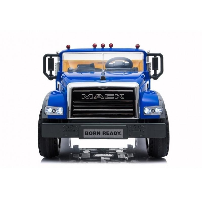 Elektromobilis sunkvežimis MACK, 12V, mėlynas