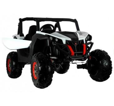 Elektromobilis JEEP XMX603, 4X4, 2x12 V, baltas