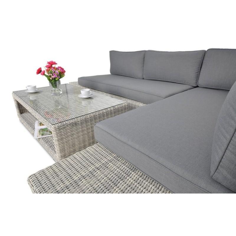 Lauko baldų komplektas VERENA PREMIUM WHITE GREY