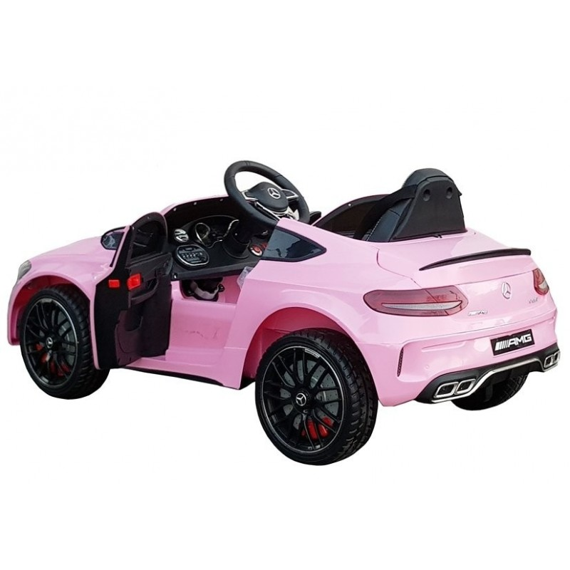 Elektromobilis MERCEDES C63 12V rožinis