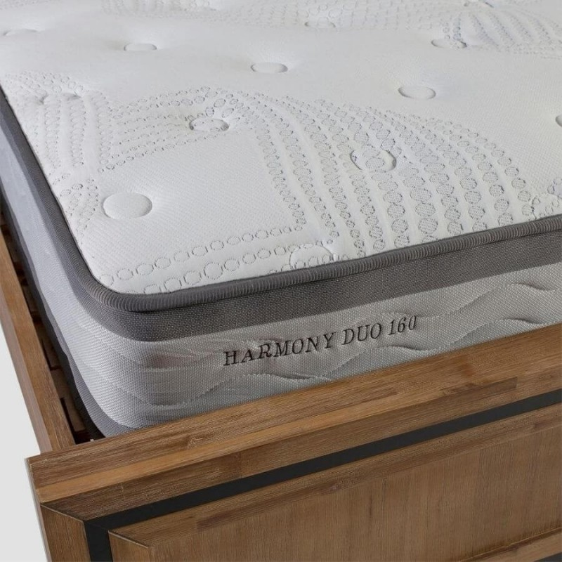 Vidutinio kietumo spyruoklinis čiužinys HARMONY DUO NEW 120x200x27cm