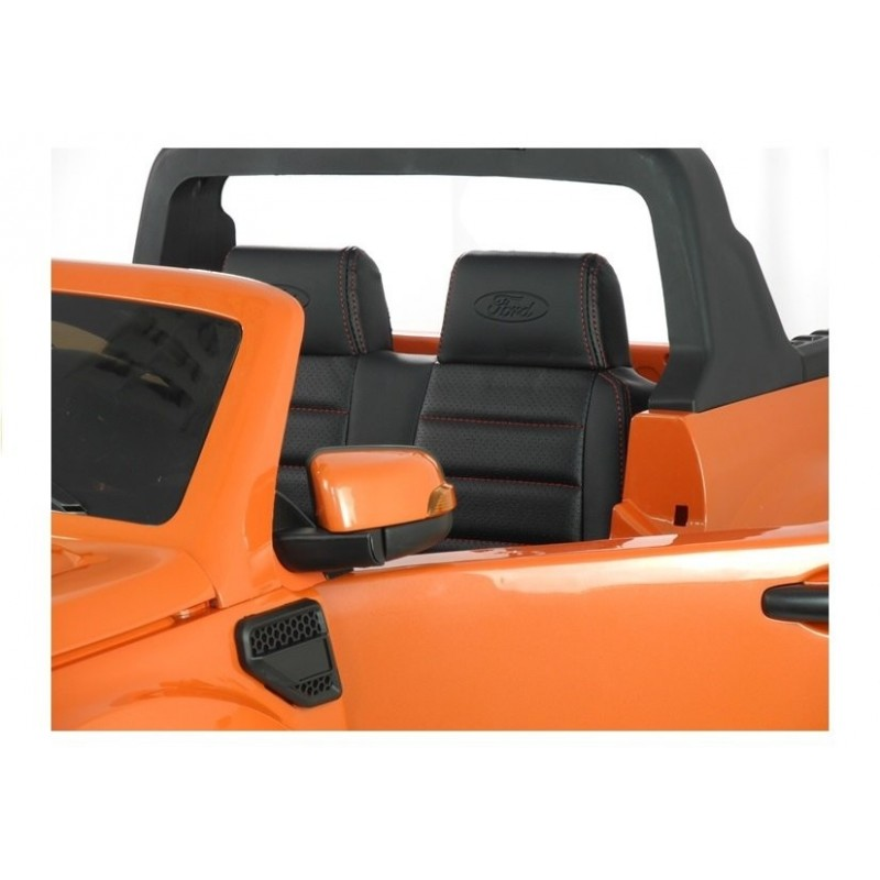 Elektromobilis FORD RANGER 4x4, 2x12V, lakuotas oranžinis