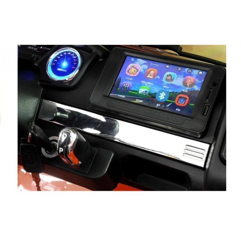 Elektromobilis FORD RANGER 4x4, 2x12V, su LCD, lakuotas oranžinis