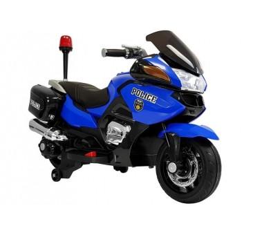 Elektrinis policijos motociklas HZB118, 12V, mėlynas