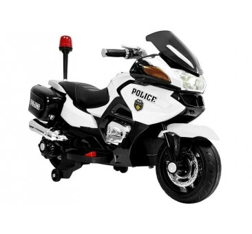 Elektrinis policijos motociklas HZB118, 12V, baltas