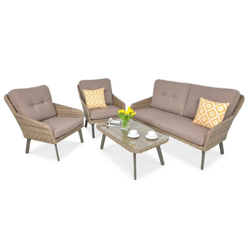 Lauko baldų komplektas MILENA CAFFE BROWN