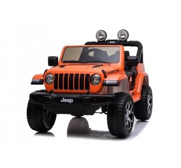 Elektromobilis JEEP WRANGLER RUBICON, 12V, oranžinis