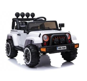 Elektromobilis JEEP BRD-7588, 4x4, 12V, baltas