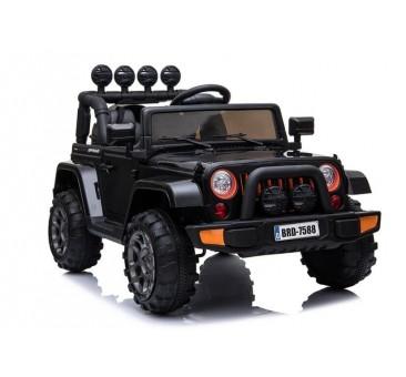 Elektromobilis JEEP BRD-7588, 4x4, 12V, juoda