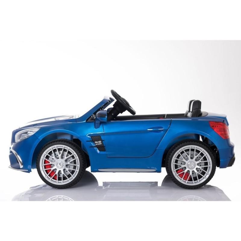Elektromobilis MERCEDES SL65 AMG, 12V, mėlynas lakuotas