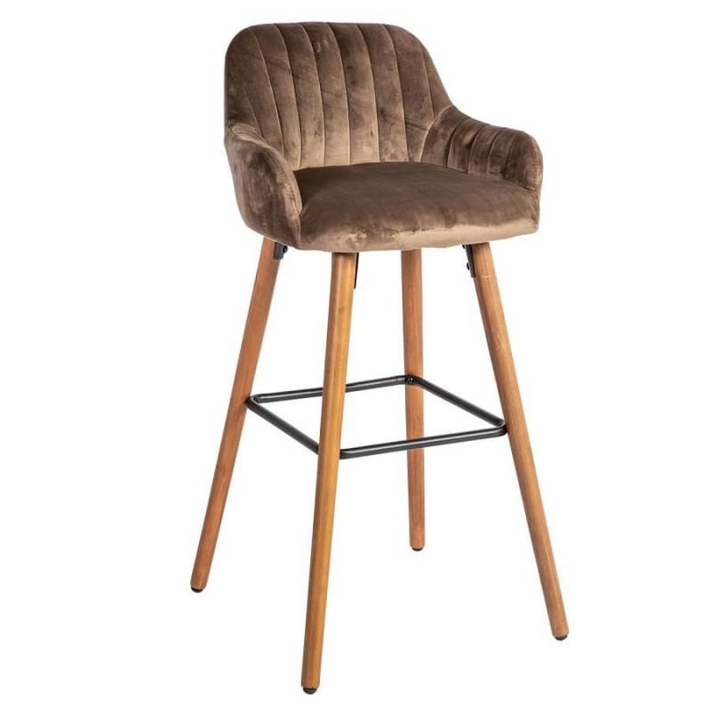 Baro kėdė ARIEL, 48x52xH97cm, ruda