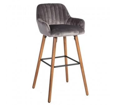 Baro kėdė ARIEL, 48x52xH97cm, pilka