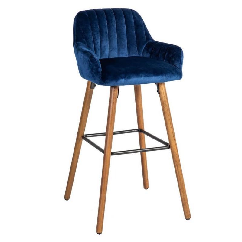 Baro kėdė ARIEL, 48x52xH97cm, mėlyna