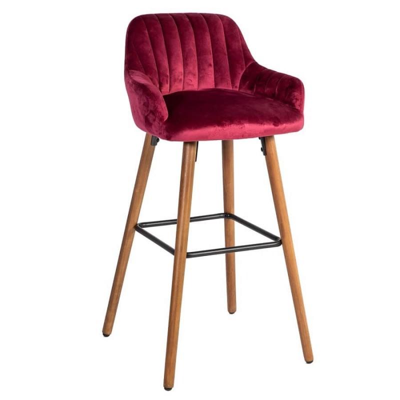 Baro kėdė ARIEL, 48x52xH97cm, vyšninė