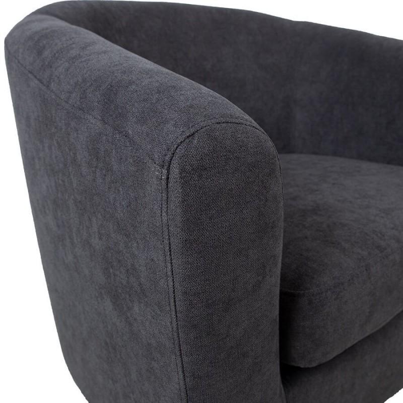 Krėslas WESTER, 76x68,5xH74cm, tamsiai pilkas