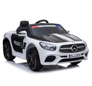Policijos elektromobilis MERCEDES SL500, 12V, baltas