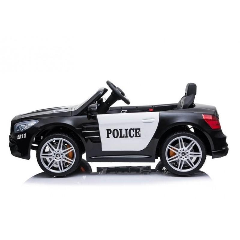 Policijos elektromobilis MERCEDES SL500, 12V, juodas