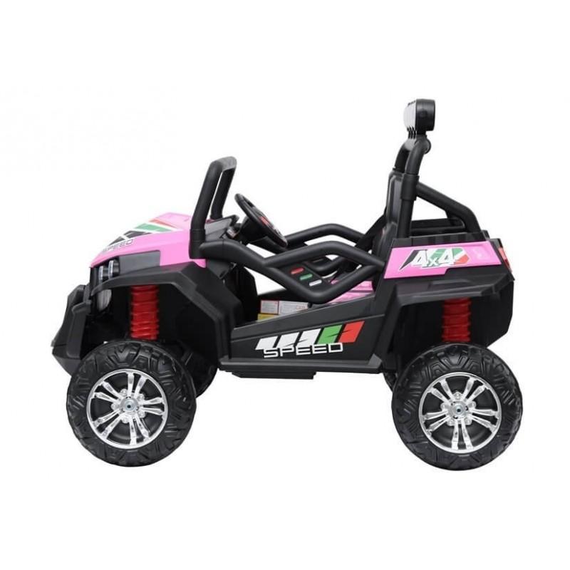 Elektromobilis BUGGY S2588, 4x4, 2x12V, rožinis