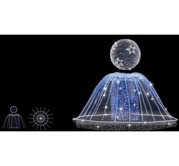 Dekoracija 3D LED fontanas 250x300, 0931