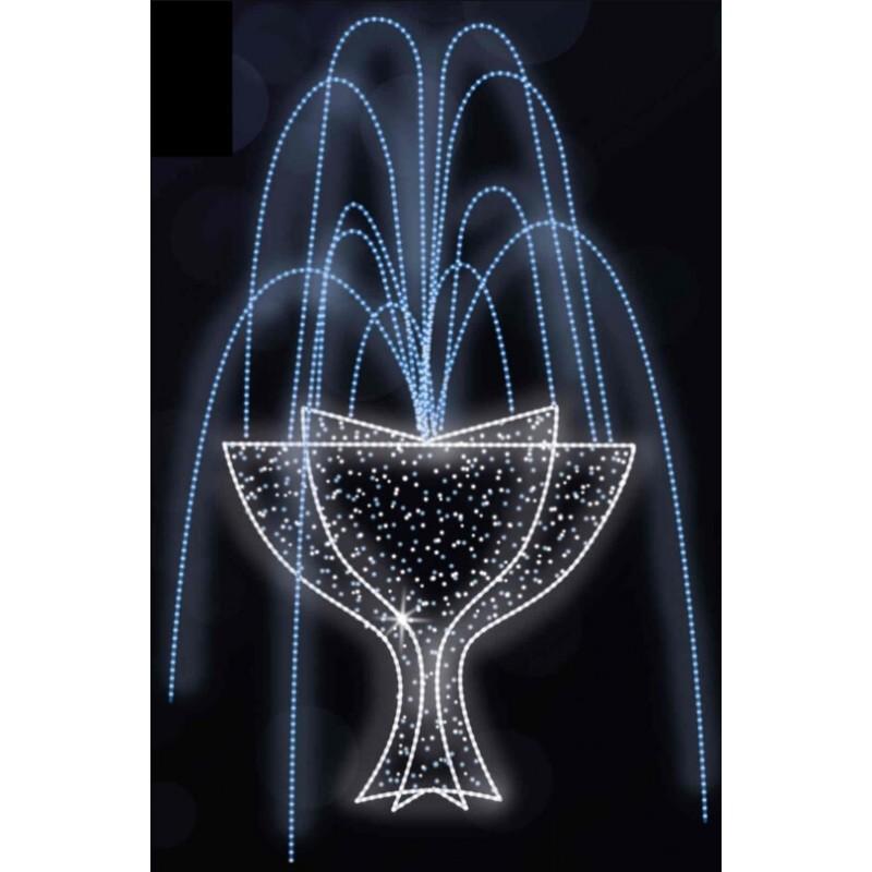 Dekoracija 3D LED fontanas 300x3500, 0901