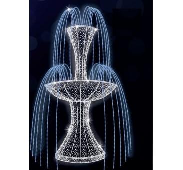 Dekoracija 3D LED fontanas 300x250, 0905