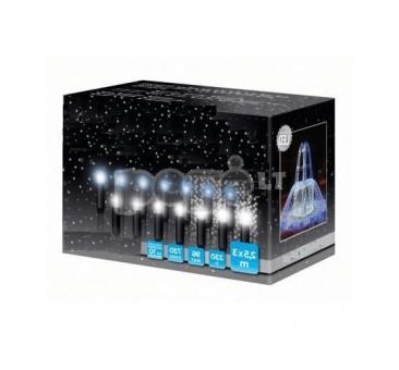Universali girlianda LED užuolaida KRIOKLYS, melsva, 720 LED, 2,5x3 m