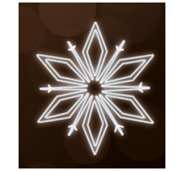 LED lauko šviečianti snaigė 150cm, 150 LED