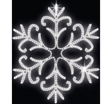 LED lauko šviečianti snaigė 150cm, 55 LED