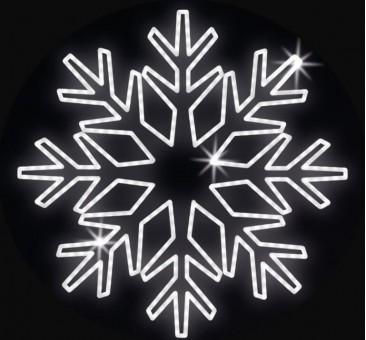 LED lauko šviečianti snaigė 150cm, 56 LED