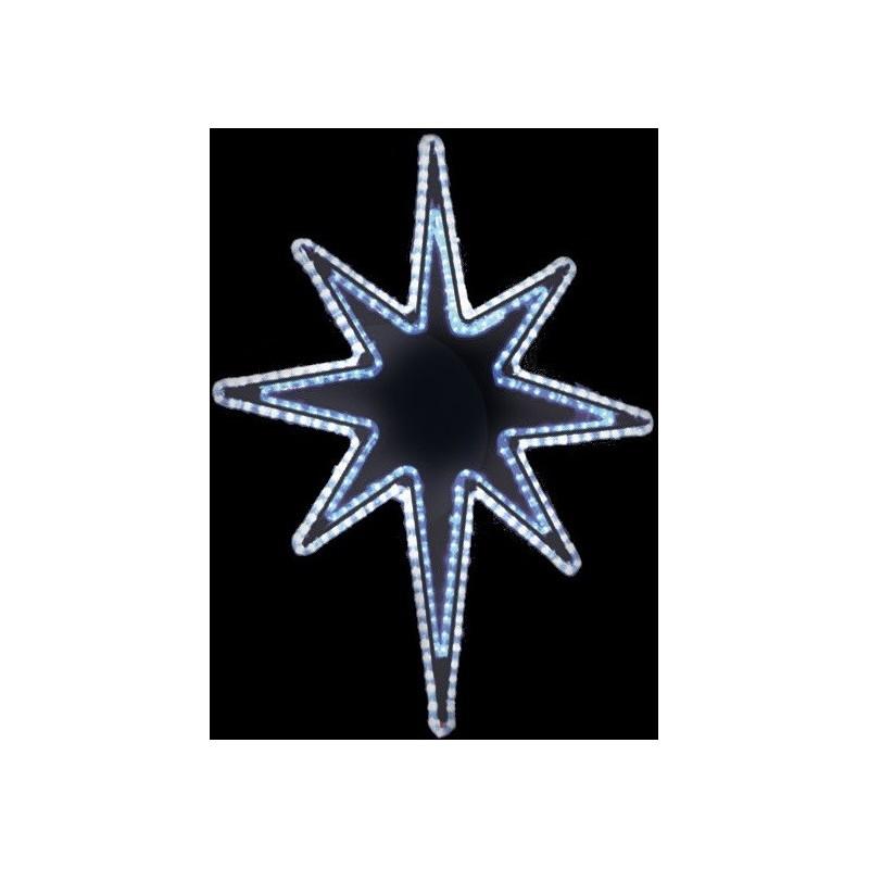 LED lauko šviečianti snaigė 100x65cm
