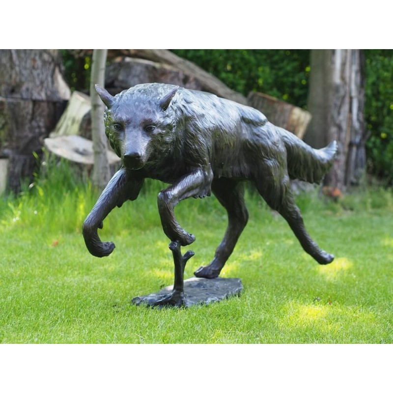 Sodo skulptūra vilkas, 62x30x132 cm
