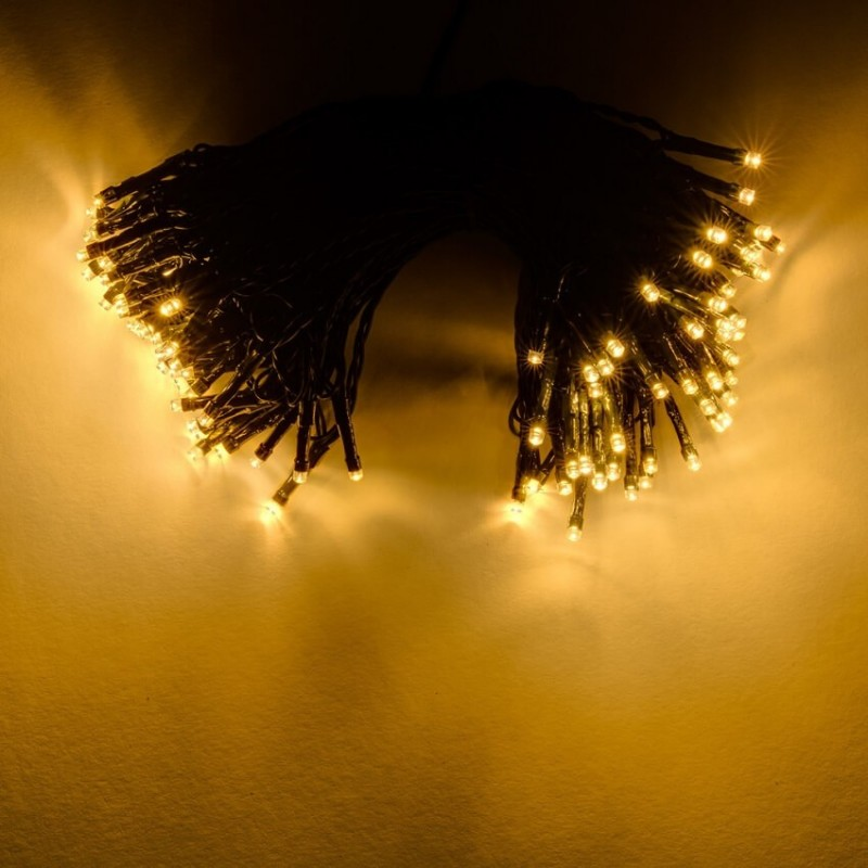Universali LED girlianda 40m, 200 diodų, šiltai balta