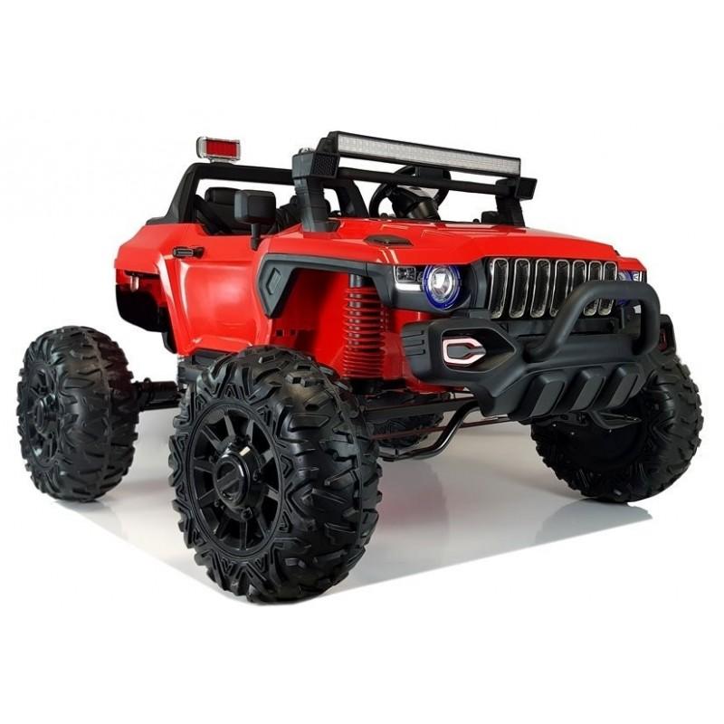 Elektromobilis QLS-618B, 4X4, 12V, raudonas