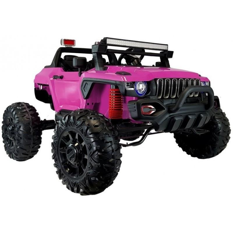 Elektromobilis QLS-618B, 4X4, 12V, rožinis