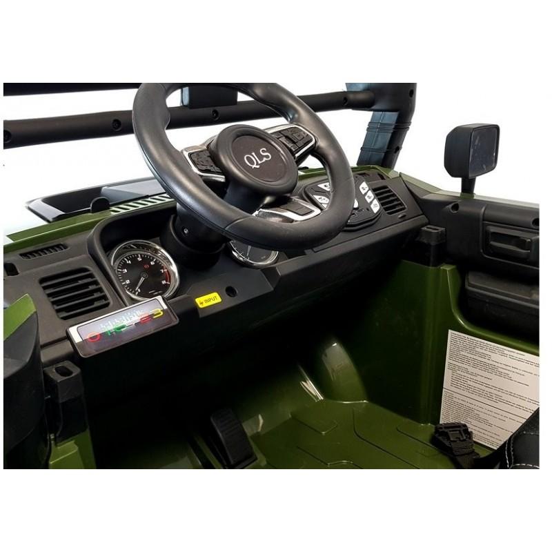 Elektromobilis QLS-618B, 4X4, 12V, žalias