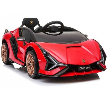 Elektromobilis LAMBORGHINI SIAN, 12V, raudonas
