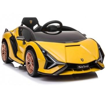 Elektromobilis LAMBORGHINI SIAN, 12V, geltonas